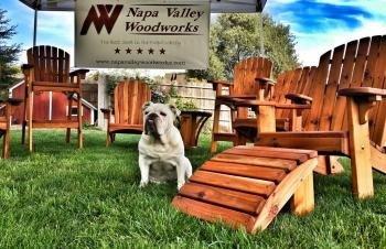 All of our quality furniture items are individually hand-crafted with pride right here in the Napa Valley!